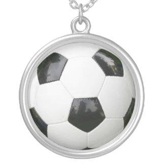 Colar Banhado A Prata bola de futebol