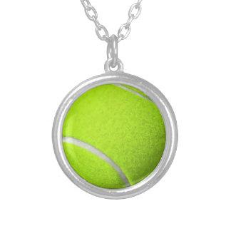 Colar Banhado A Prata Bola de tênis