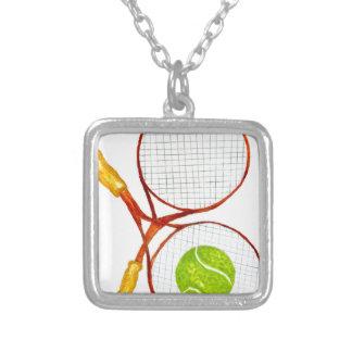 Colar Banhado A Prata Bola de tênis Sketch2