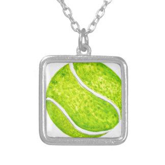 Colar Banhado A Prata Bola de tênis Sketch4