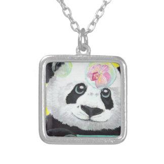 Colar Banhado A Prata Bolhas da panda