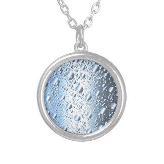Colar Banhado A Prata Bolhas de Quicksliver Mercury