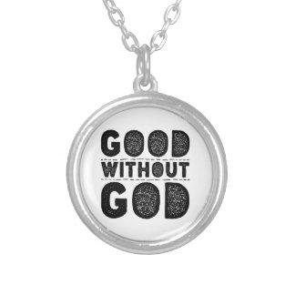 Colar Banhado A Prata Bom sem deus