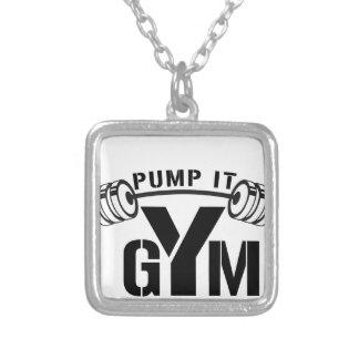 Colar Banhado A Prata bombeie-o gym