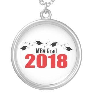 Colar Banhado A Prata Bonés do formando de MBA e diplomas 2018
