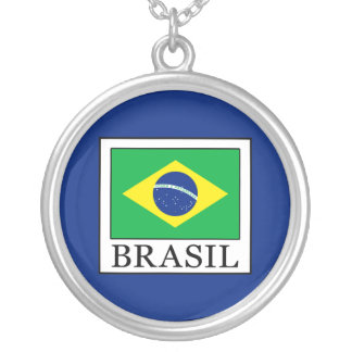 Colar Banhado A Prata Brasil