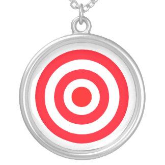 Colar Banhado A Prata Bullseye