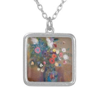 Colar Banhado A Prata Buquê das flores - Odilon Redon