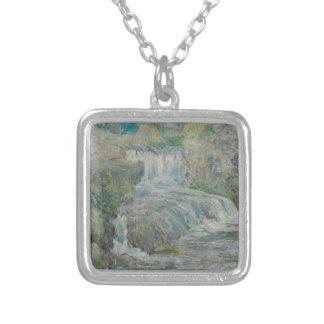 Colar Banhado A Prata Cachoeira - John Henry Twachtman