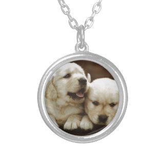 Colar Banhado A Prata Cães de filhote de cachorro de Armant