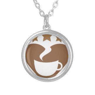 Colar Banhado A Prata Café do amor