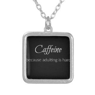 Colar Banhado A Prata Cafeína