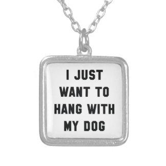 Colar Banhado A Prata Cair com meu cão