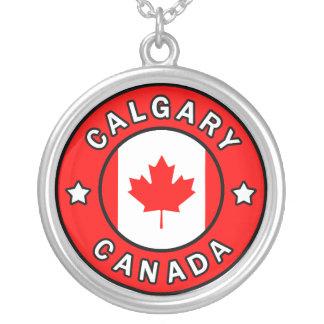 Colar Banhado A Prata Calgary Canadá