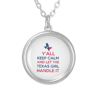 Colar Banhado A Prata Camisetas da menina de Texas