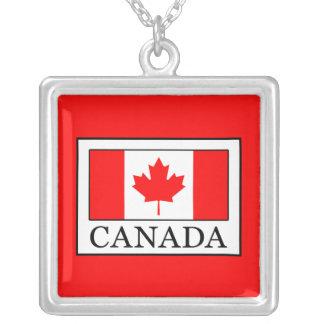 Colar Banhado A Prata Canadá