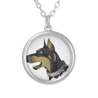 Colar Banhado A Prata cão 96Angry _rasterized