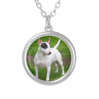 Colar Banhado A Prata Cão americano de Terrier de pitbull
