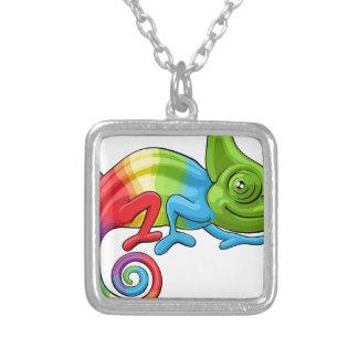 Colar Banhado A Prata Caráter do arco-íris dos desenhos animados do