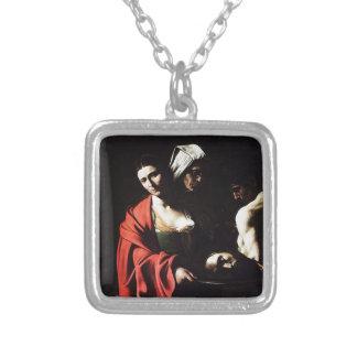 Colar Banhado A Prata Caravaggio - Salome - trabalhos de arte barrocos