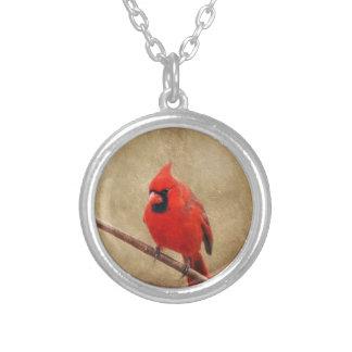 Colar Banhado A Prata Cardinal