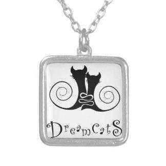Colar Banhado A Prata Casseminia - dreamcats com texto