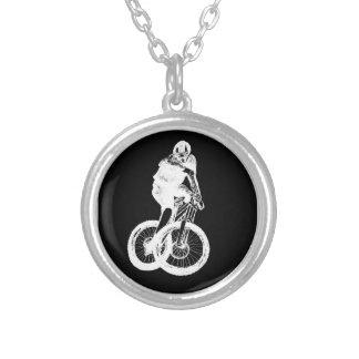 Colar Banhado A Prata CICLISTA do motociclista MTB BMX da montanha