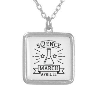 Colar Banhado A Prata Ciência março