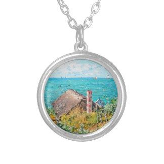 Colar Banhado A Prata Claude Monet a cabine em belas artes do