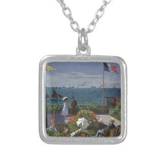 Colar Banhado A Prata Claude Monet - o jardim na arte de Sainte Adresse