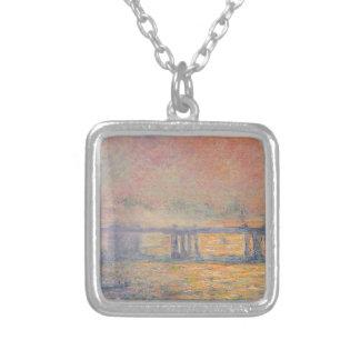 Colar Banhado A Prata Claude Monet - Saint Louis da ponte transversal de