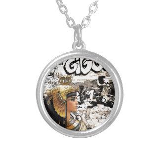 Colar Banhado A Prata Cleopatra