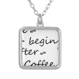 Colar Banhado A Prata coffee18