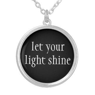 Colar Banhado A Prata Colar-Deixe seu brilho claro