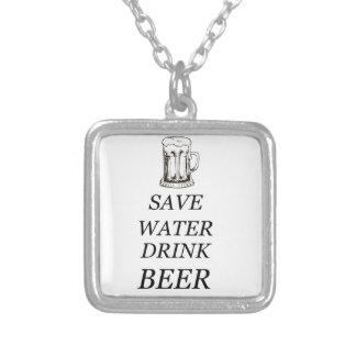 Colar Banhado A Prata Comida da bebida da cerveja