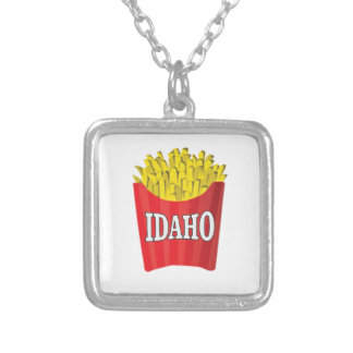 Colar Banhado A Prata Comida lixo de Idaho