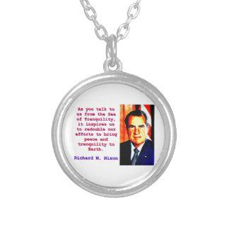 Colar Banhado A Prata Como você nos fala - Richard Nixon