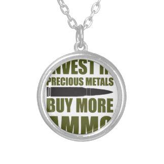 Colar Banhado A Prata Compre mais munição, invista-a no metal