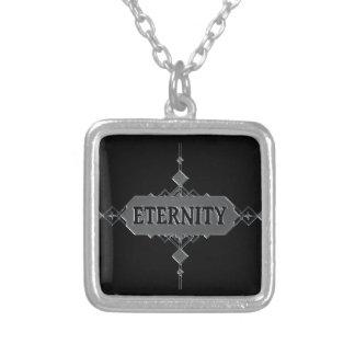 Colar Banhado A Prata Conceito da eternidade