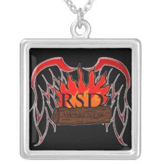 Colar Banhado A Prata Consciência de RSD