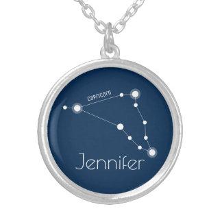 Colar Banhado A Prata Constelação personalizada do zodíaco do