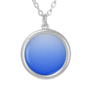 Colar Banhado A Prata Cor abstrata - azul