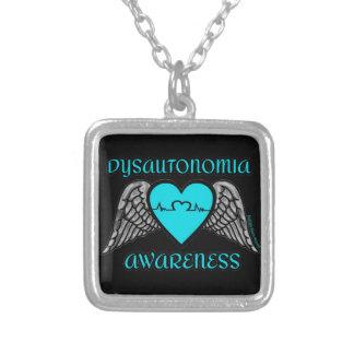 Colar Banhado A Prata Coração/asas… Dysautonomia