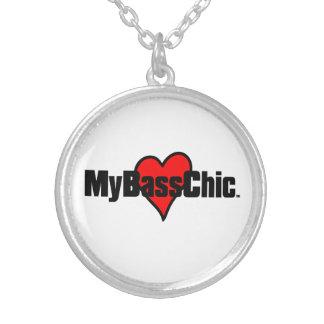 Colar Banhado A Prata Coração carmesim de MyBassChic (TM)