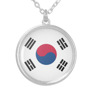 Colar Banhado A Prata Coreia do Sul