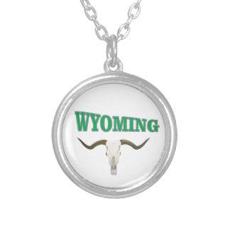 Colar Banhado A Prata Crânio de Wyoming