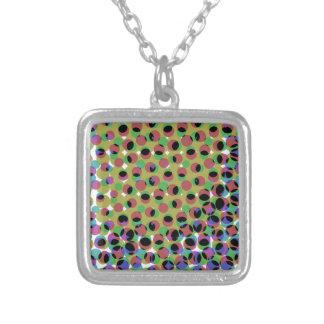 Colar Banhado A Prata Cristalizado Pixelmuster - crystallized pixel