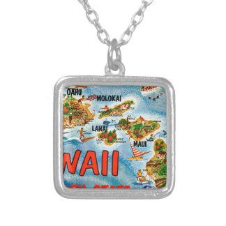 Colar Banhado A Prata Cumprimentos de Havaí