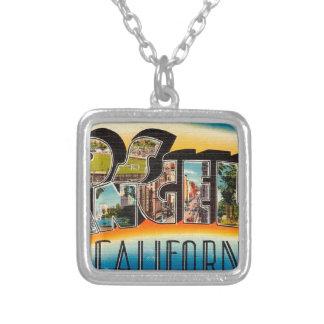 Colar Banhado A Prata Cumprimentos de Los Angeles