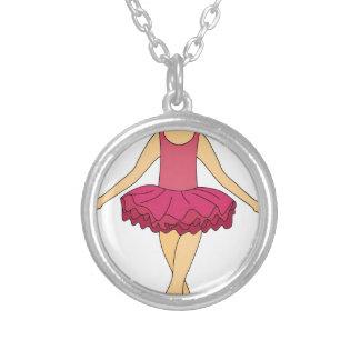 Colar Banhado A Prata Dançarino de balé